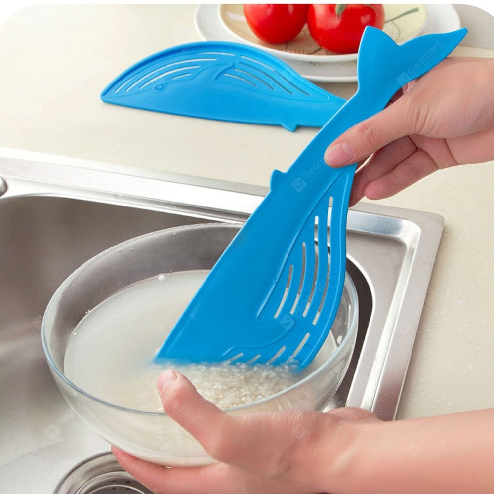 Cooking Tools Kitchen Tool The Whale Shaped Handle Type Water Filter Frame Rice Washer Creative Other_Kitchen_Accessories
