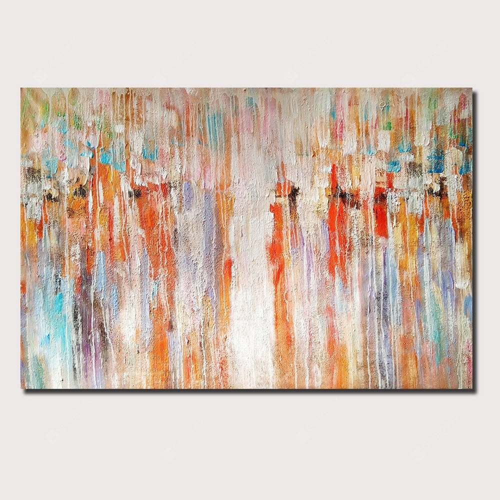QINGYAZI HQ068 Hand-Painted Abstract Oil Painting Home Wall Art Painting Wall_Art