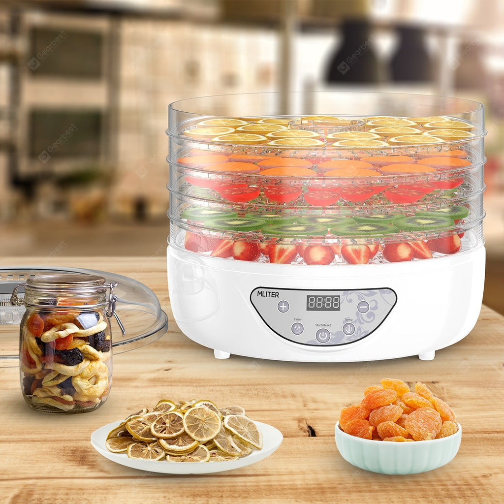 5 Tier Electric Food Dehydrator Machine Fruit Dryer Beef Jerky Herbs BPA-Free Other_Kitchen_Accessories