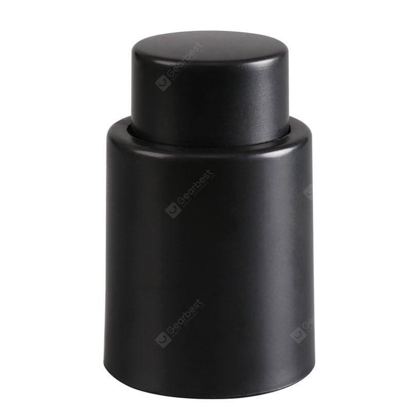 Black Vacuum Wine Bottle Stopper Sealed Storage High Quality Plug Liquor Flow Stopper Pour Cap Barware