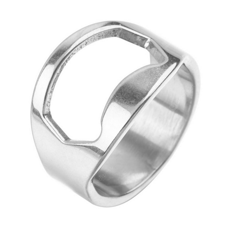 Stainless Steel Ring Opener Multi-function Beer Bottle Opener Diameter 22mm Cookware