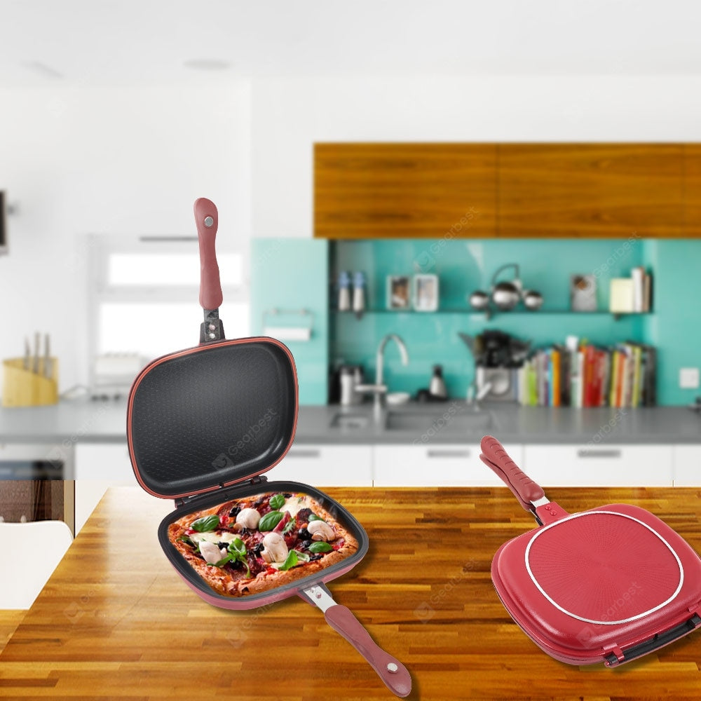 Double-Sided Frying Pan Non-Stick Barbecue Cooking Tool Stable Durable And Reliable Cookware Cookware