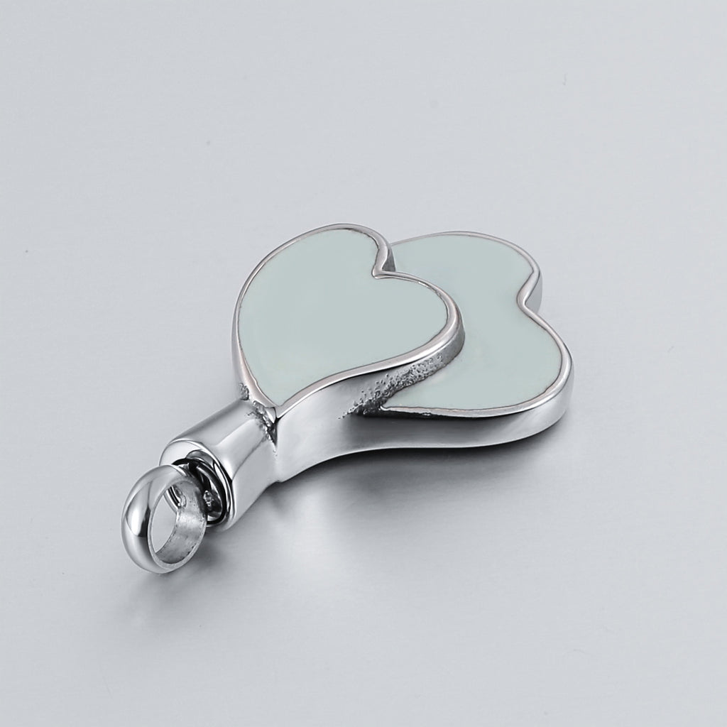 Cremation Ashes Necklace Pendant Stainless Steel Heart Engravable 2 x 3.5cm