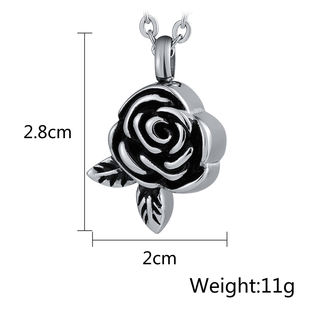 Urn Necklace Cremation Necklace Stainless Steel Engravable 2 x 2.8cm