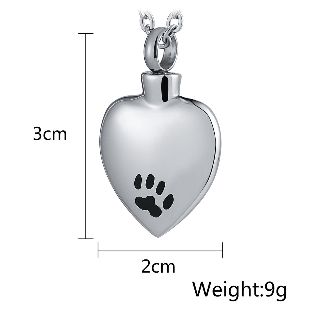 Urn Necklace Cremation Necklace Stainless Steel Heart Engravable 2 x 3cm