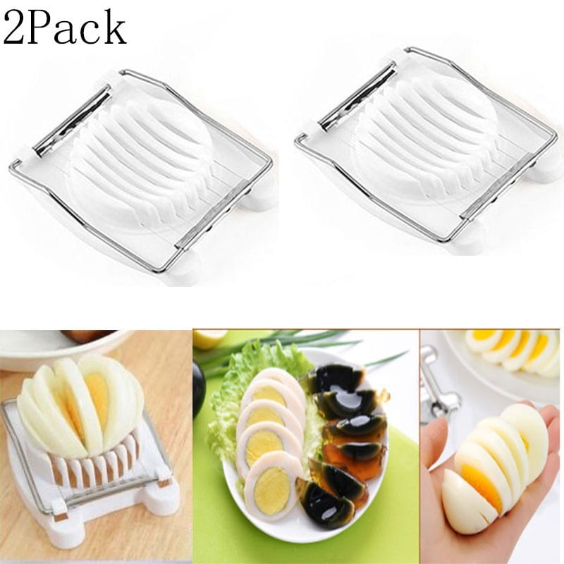 Kitchen Manual Gadgets Egg sliced Slicers Stainless Steel Tools Cookware