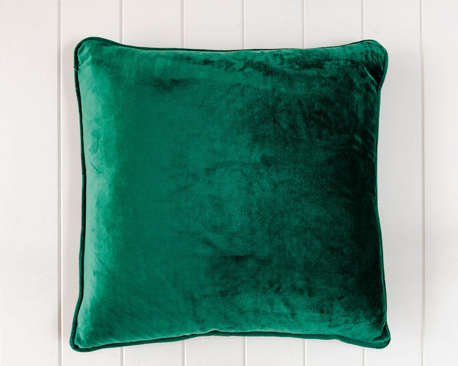Velvet Cushion - Emerald