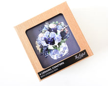 Load image into Gallery viewer, Centrepiece - Ceramic Coaster Set/4