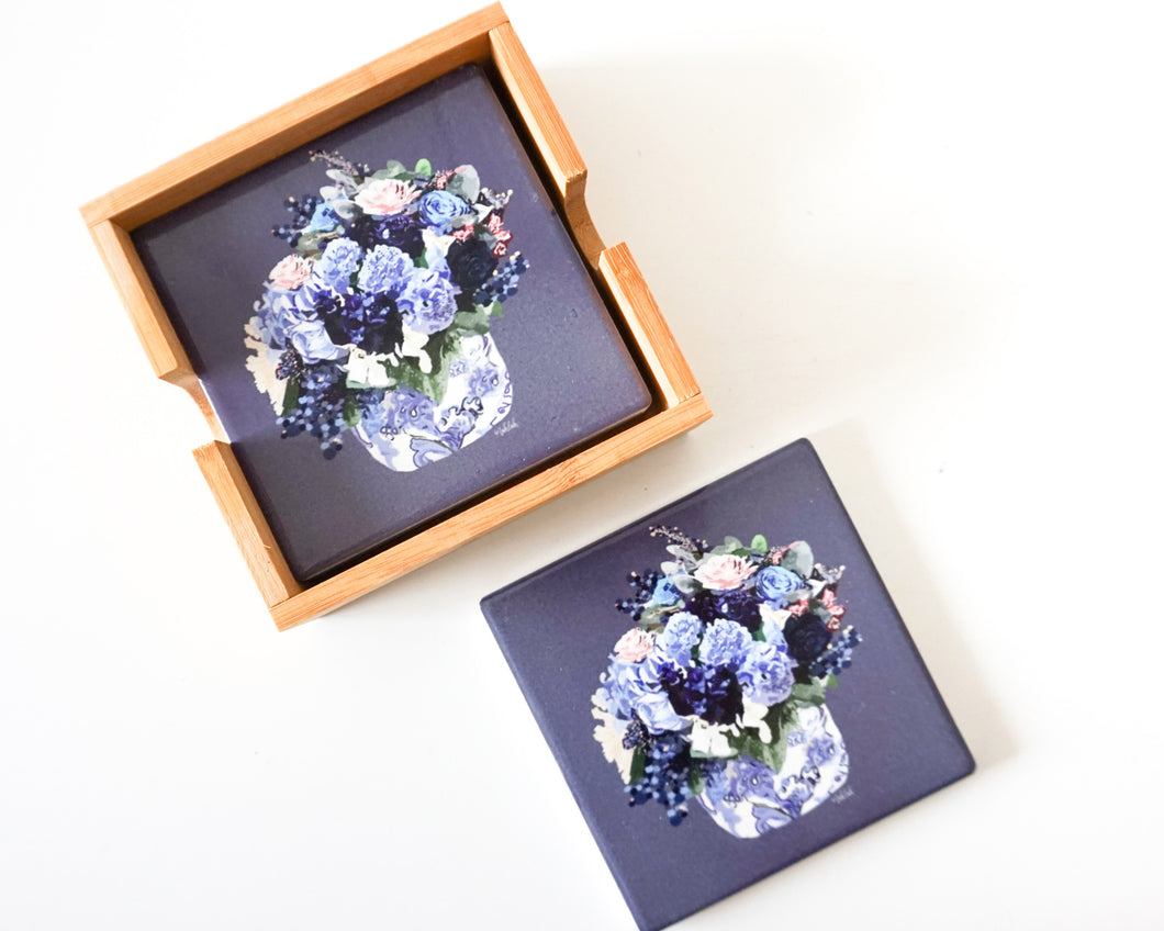Centrepiece - Ceramic Coaster Set/4