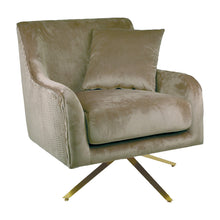 Load image into Gallery viewer, Phoebe Velvet Armchair - Taupe *PRE-ORDER*