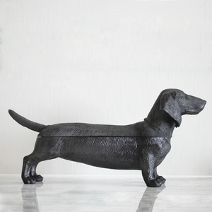 Dachshund Secret Bowl - Black