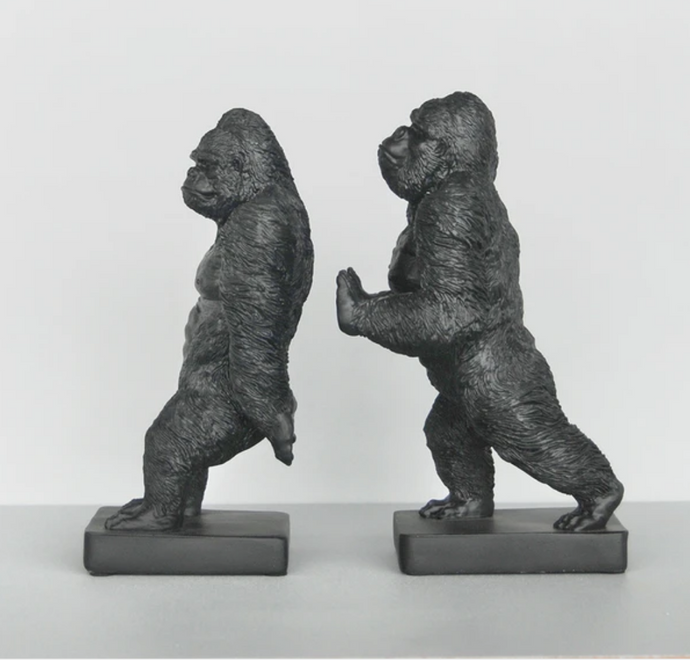 Gorilla Bookends - Black