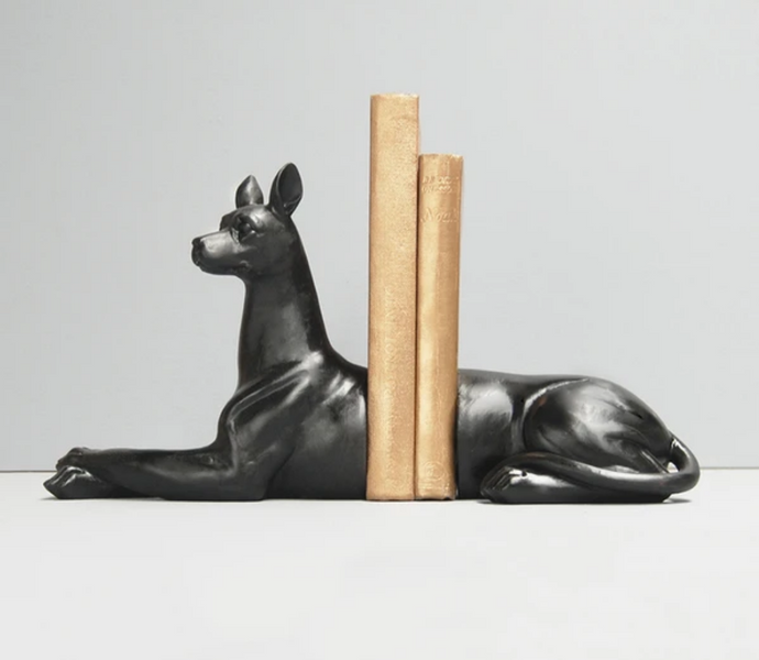 Dog Bookends - Black