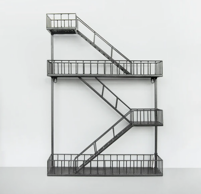 Fire Escape Shelf - Black