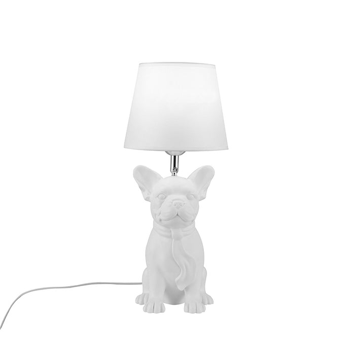 French Bulldog Table Lamp - White