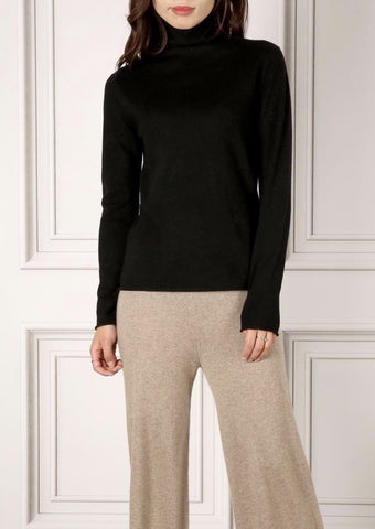 LUNA TURTLENECK SWEATER BLACK