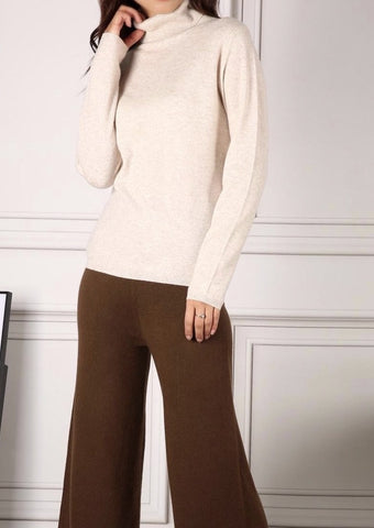 LUNA TURTLENECK SWEATER CREAM