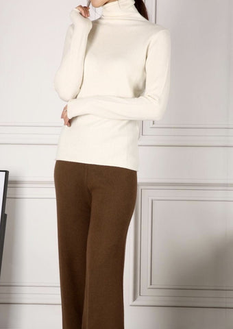 LUNA TURTLENECK SWEATER WHITE