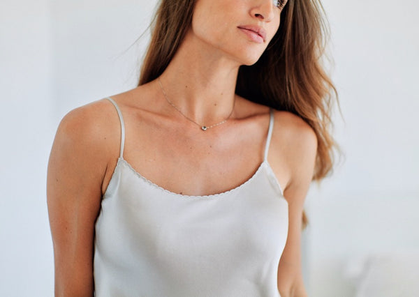 EVA SILK TOP IVORY