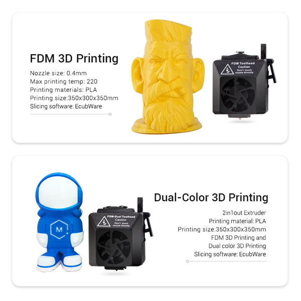 TOYDIY 4-in-1 3D Printer - EcubMaker丨Store