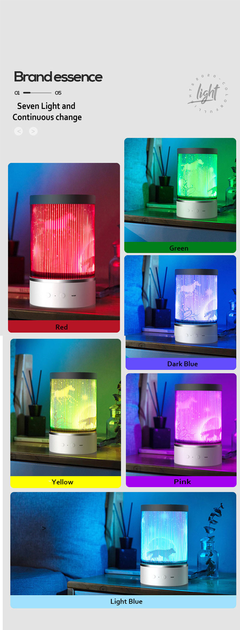 2020 Newest Colorful LED Projector Bluetooth Speaker