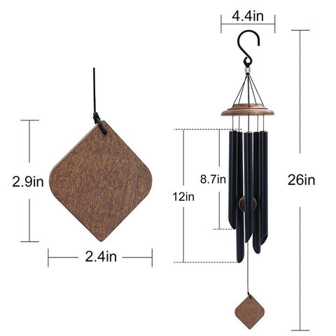 Toolcome Outdoor 5 Tuned Metal Tubes Wind Chimes