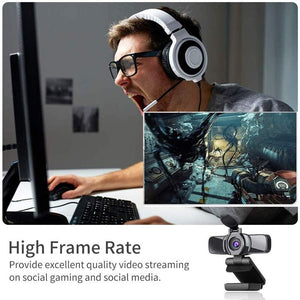 1080P USB Webcam HD Cover Gaming Computer Web Camera
