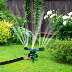Lawn Automatic Water 360 Rotating Sprinkler - Tinklegem.com