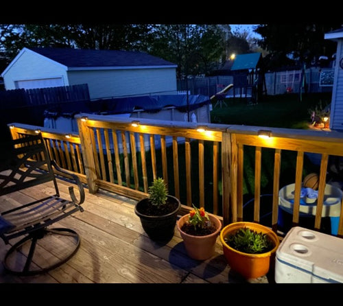 Outdoor Solar Deck Lights Super Bright