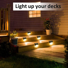 Load image into Gallery viewer, Led Solar Step Lights Outdoor for Stair, Fence, Railing,Patio Garden, Step