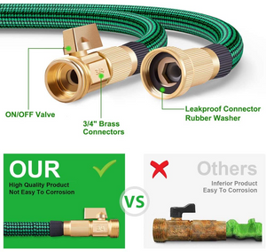 Expandable Garden Hose with 9 Function Nozzle