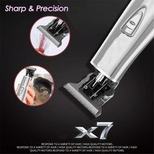 Load image into Gallery viewer, Professional Rechargeable Hair Clipper Electric Hair Trimmer Beard Razor for Men