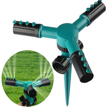 Load image into Gallery viewer, Automatic 360 Rotating Adjustable Garden Hose Watering Lawn Sprinkler