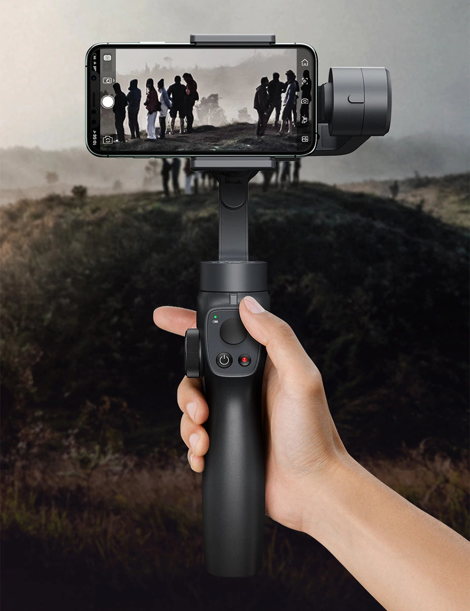 Video Phone Stabilizer 3-Axis Gimbal With Tripod Stand
