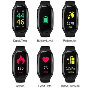 Smart Watch Bluetooth Headphone With Blood Pressure Monitor