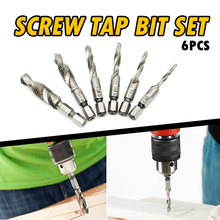 Load image into Gallery viewer, Screw Tap Drill Bit Set (Set of 6)