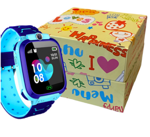 GPS Kids Smart Watch Tracker Phone Touchscreen IP67 Waterproof with Camera & Voice Chatting for Children