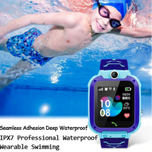 Load image into Gallery viewer, GPS Kids Smart Watch Tracker Phone Touchscreen IP67 Waterproof with Camera & Voice Chatting for Children