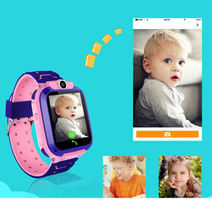 kids pink GPS watch with voice and video chat