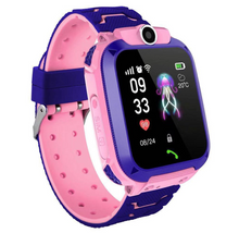 Load image into Gallery viewer, pink kids smart watch with large GPS screen