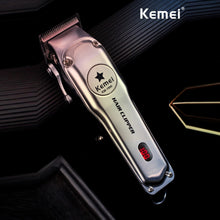 Load image into Gallery viewer, Kemei Professional Hair Trimmer Powerful Eletric Hair Clipper Shaver Hair Shaving Machine Hair Cutting Beard Electric Razor