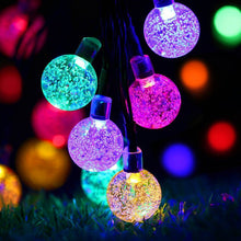 Load image into Gallery viewer, 6M 30 LED Solar Light String Crystal Ball Outdoor Waterproof Fairy Lights