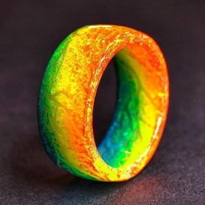 Wow Jewelry Shop Jewelry 9 / Beige Glow Colorful in the Dark - Fluorescent Glowing Colorful Rings