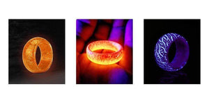 Wow Jewelry Shop Jewelry Glow Colorful in the Dark - Fluorescent Glowing Colorful Rings  For Women