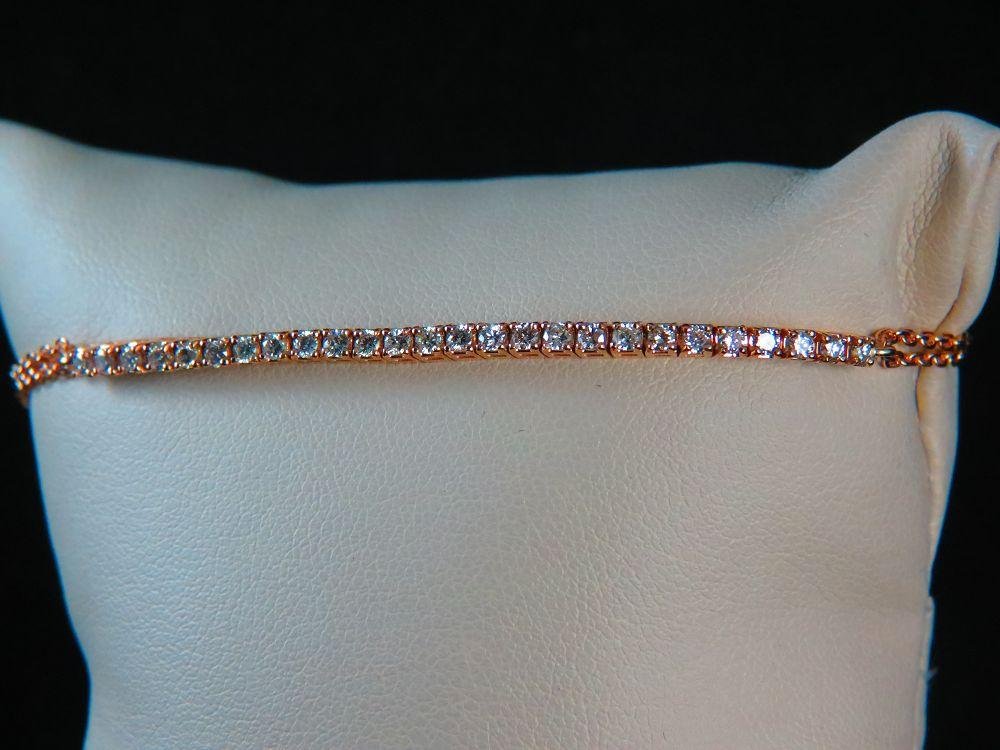 14K Rose Gold Diamond 0.65CT Bracelet