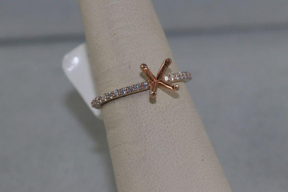 14K Rose Gold Engagement Ring Mounting