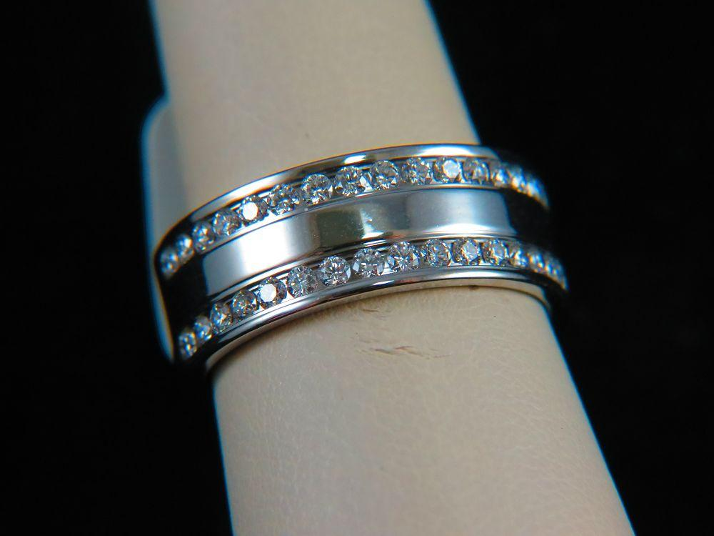 14K White Gold Men's Diamond Band