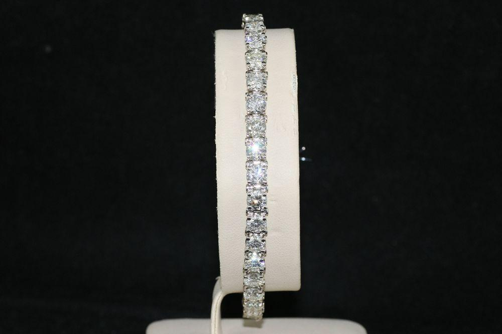 14K White Gold 11.20 Ct. Diamond Tennis Bracelet