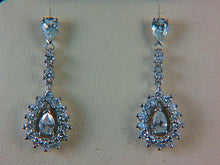 Load image into Gallery viewer, 14K White Gold Diamond Dangle Earrings