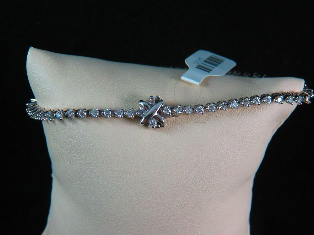 14K White Gold Diamond Tennis Bracelet